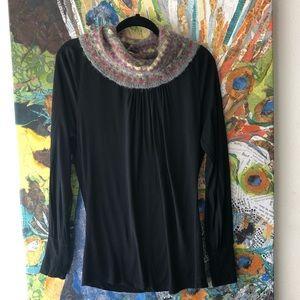 Missoni knit cowl neck top